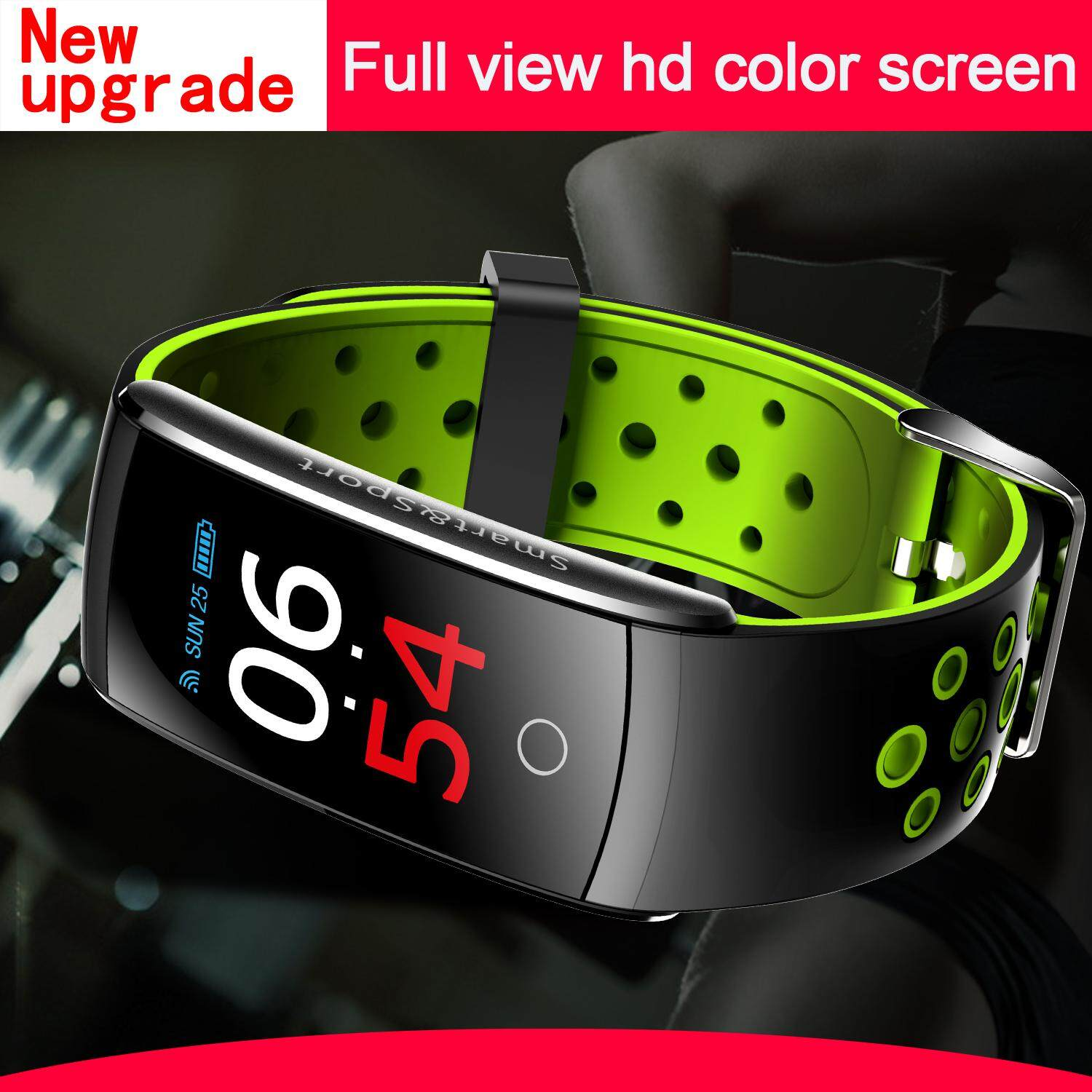 New 2018 Q8S Sport Smart Bracelet 0.96 inch IPS HD color screen Wristband Heart Rate Blood