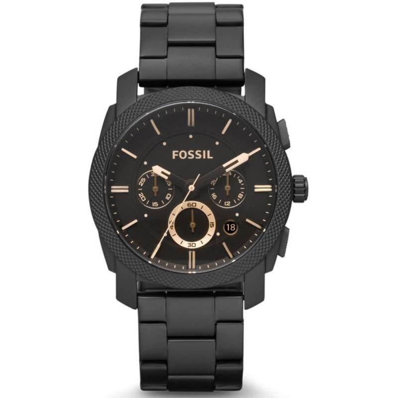 Fossil Mens Machine Chrono Dark Brown Ion-Plated Watch FS4682 Malaysia