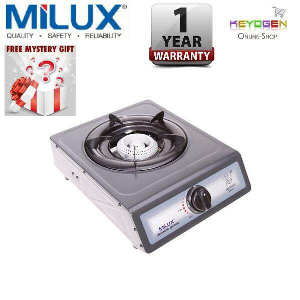 Milux Gas Cooker ME-100 -1 Burner Stove-Epoxy Beehive- 1 year Warranty (Free Mystery Gift)