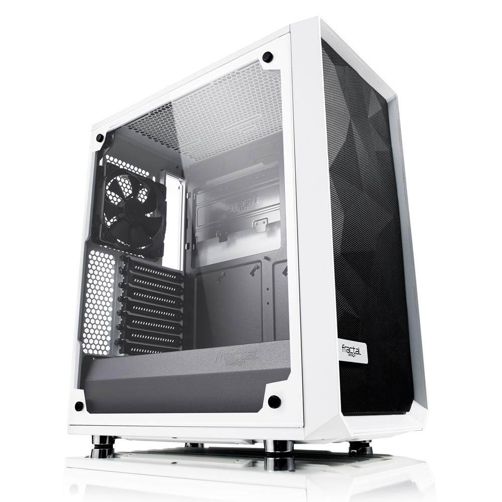 Fractal Design Meshify C White - TG Desktop PC Chassis, Tempered Glass Malaysia