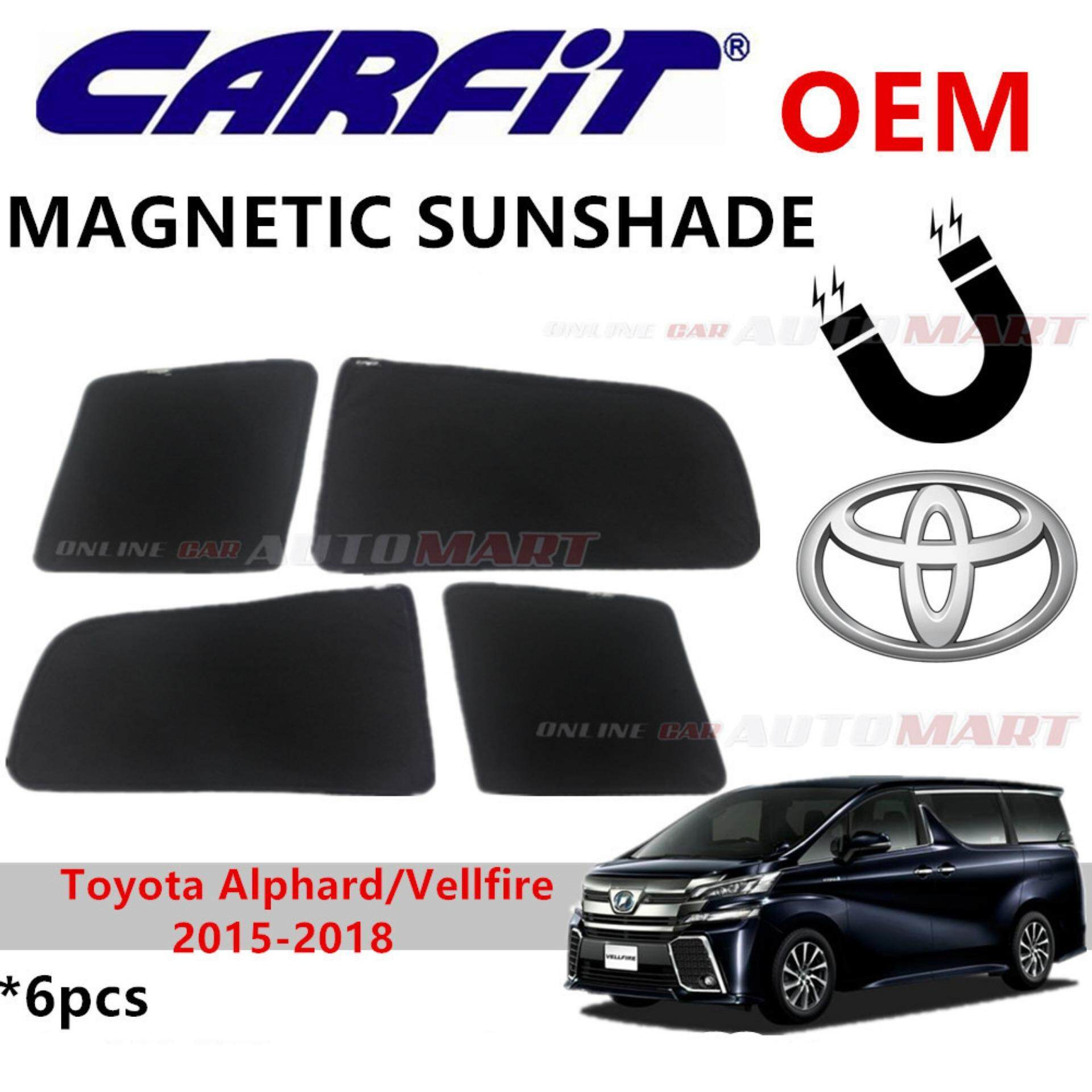 CARFIT OEM Magnetic Custom Fit Sunshade For Toyota Alphard/Vellfire Yr 2015-2018 (6pcs Sets)