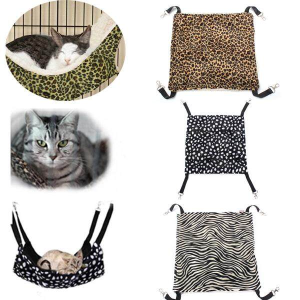 Warm Pet Animal Cat Kitty Hanging Ferret Hammock Polka Dot Design Bed Cage Pad - Intl By Elec Mall.