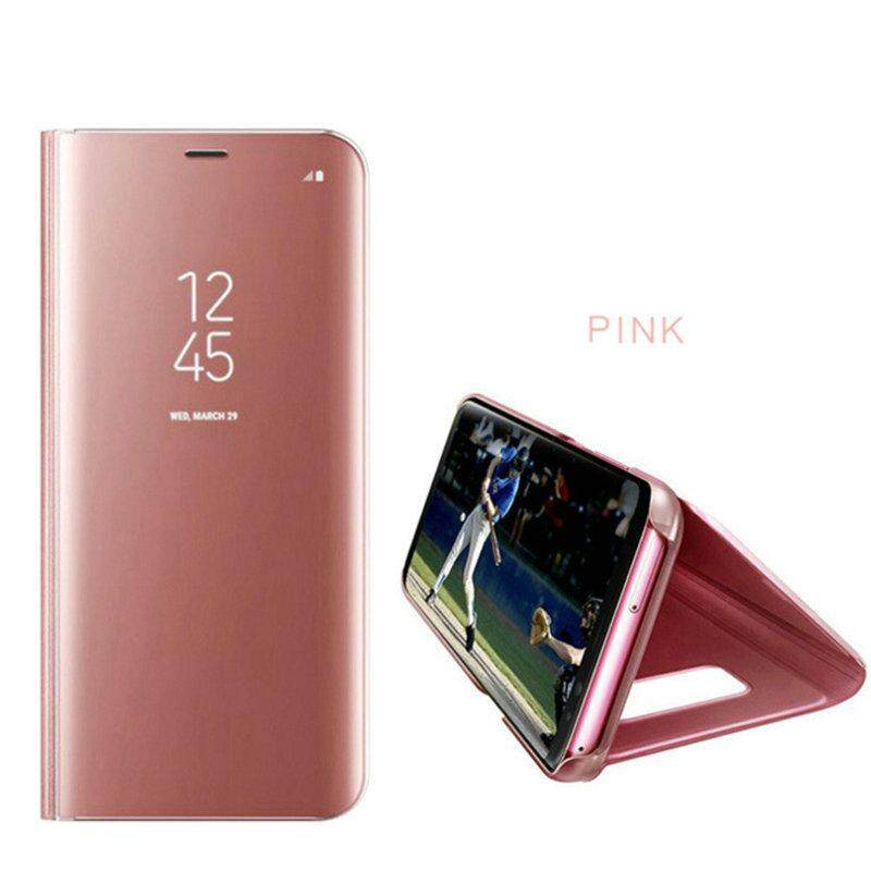 Smarcent Mirror Case For Samsung Galaxy Note 8 Leather Smart Clear View Flip Stand Cover - intl