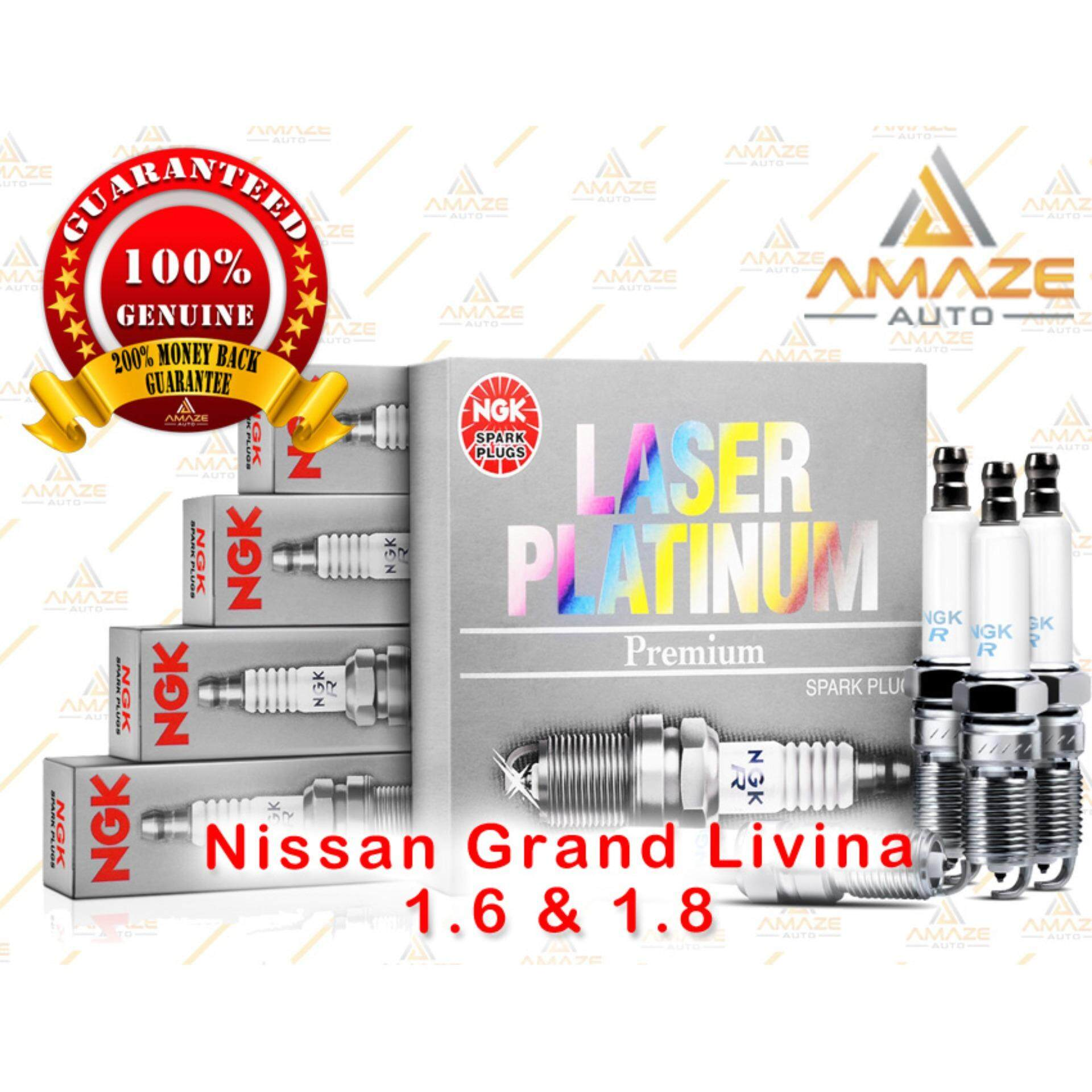 NGK Laser Platinum Spark Plug for Nissan Grand Livina 1.6 & 1.8 (2007 - Current)