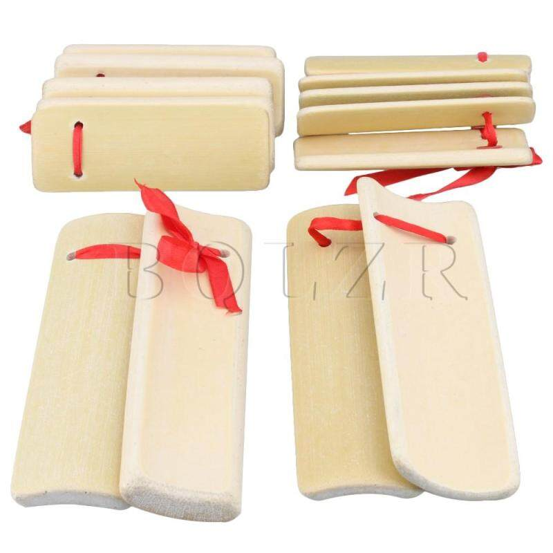 Bamboo Castanets Traditional Allegro Instrument Set of 2 Bamboo color