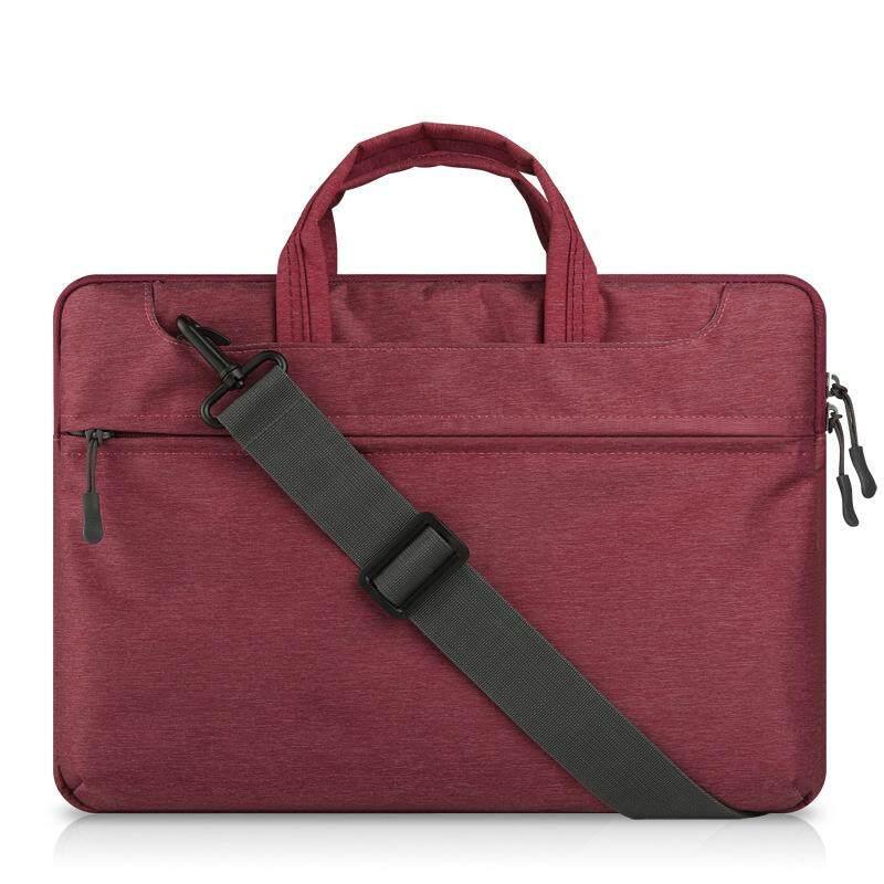 Dengan Harga Murah Tas Tangan Laptop Felt untuk Mac Book Air/Pro/Retina Tahan Air Tempurung Pelindung Casing Notebook 13 Inches Comput Tas (Anggur Merah) -Intl