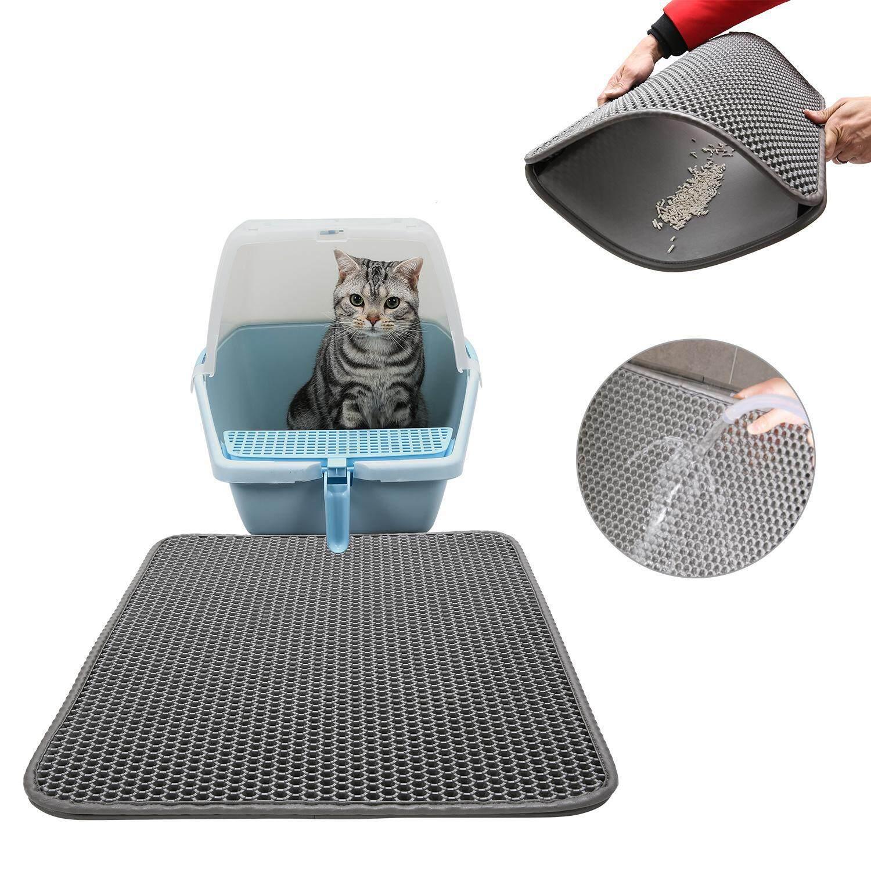 Cat Litter Mat, Double-Layer Honeycomb Cat Feeding Mat, Litter-Trapping,