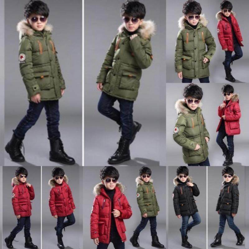 Lunar Valley 3 colors New Hot SALE 6-15 Years Fashion Boys Hooded Down Jackets