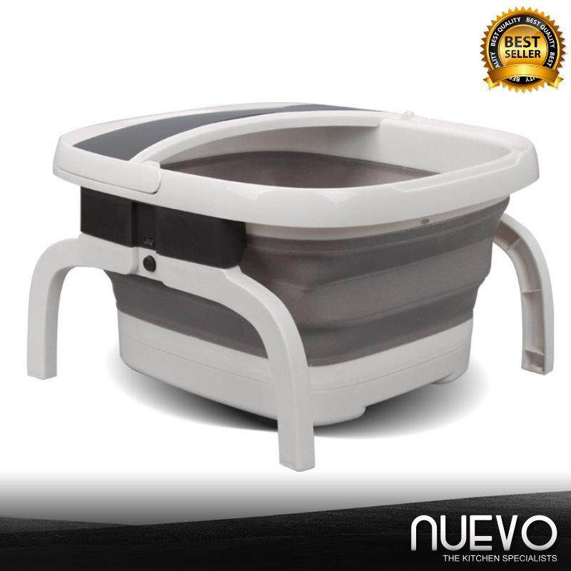 Nuevo Folding Foot Tub Plastic Household Massage Artifact Automatic Heating Thermostat Bubble Foot Bucket Electric Health Washer