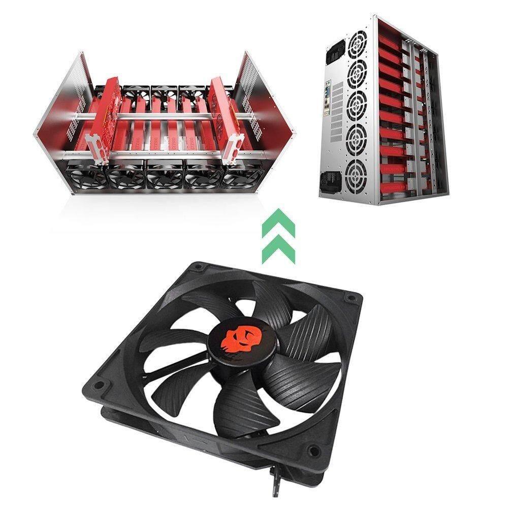 Yika 12CM Mining Case Cooling Fan High Speed Dual Ball Bearing Cooling Fan 3000RPM