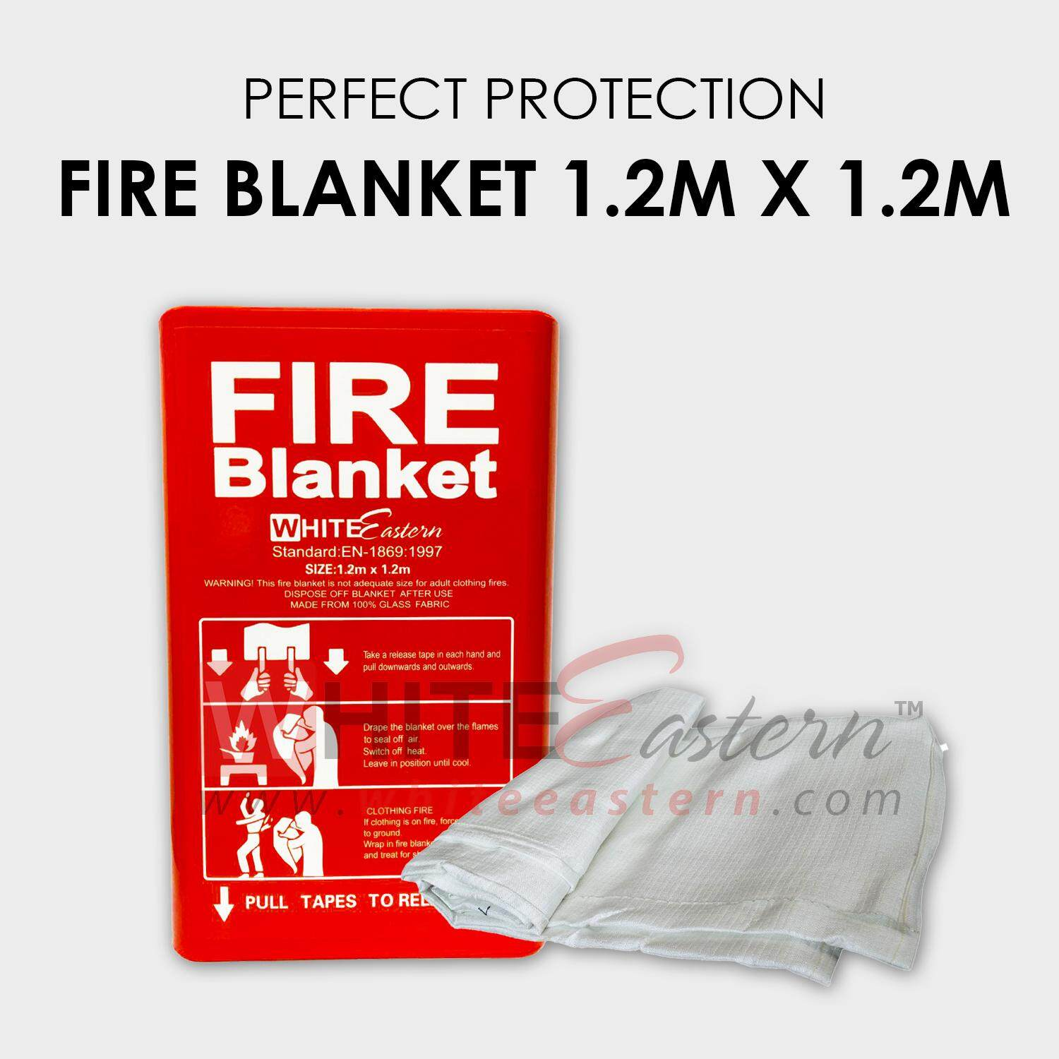 Fire blanket x for home travel lazada for Ecksofa 2m x 2m