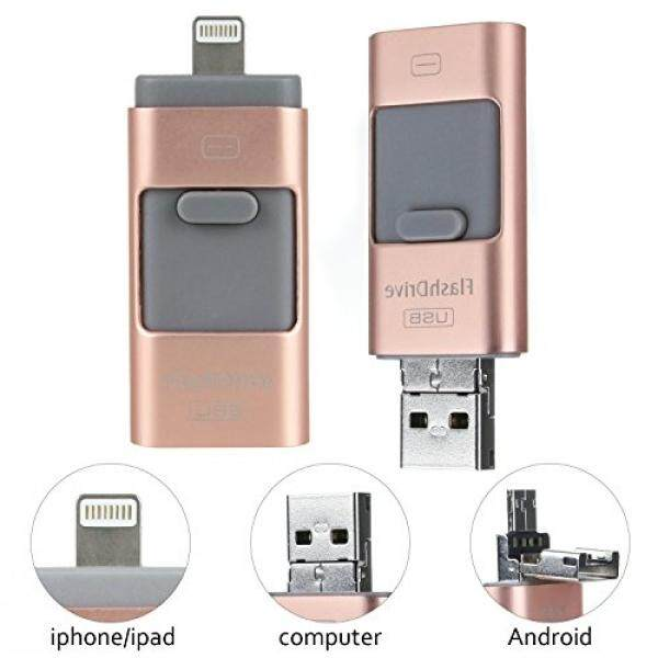 OTG USB Flash Drive 64GB (Rose Gold) For Android Cell Phone, iPhone, Computer, Memory Stick External Storage - intl