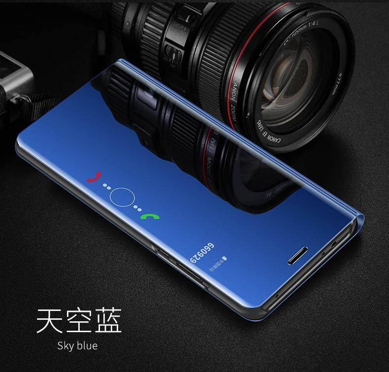 Luxury Mirror Clear View Smart Flip Case for VIVO V9 Leather Cover Casing for vivo V9 case Housing