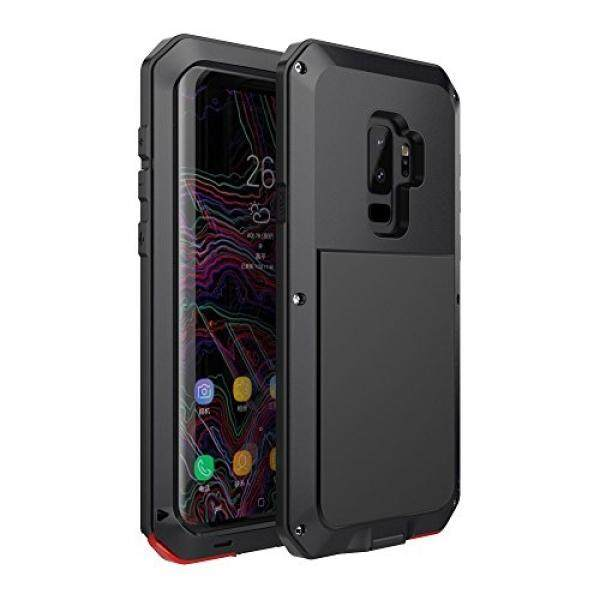 Galaksi S9 Plus Case, bixby Tombol Air Tahan Anti Guncangan Aluminium Logam Super Anti Shake Silikon Penuh Badan Perlindungan untuk Samsung Galaksi S9 Plus- 2018 Terbaru Dirilis (Hitam) -Internasional