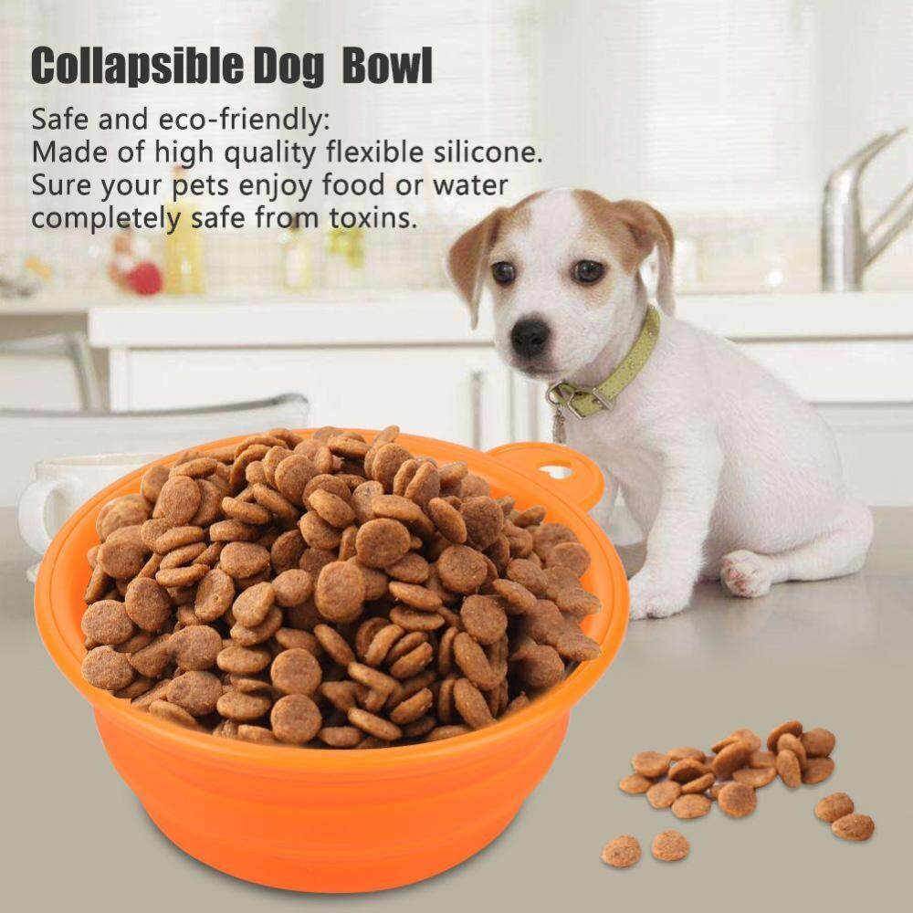 Collapsible Dog Foldable Cup Dish Pet Dog Cat Food Water Portable Travel Feeding Bowl - intl