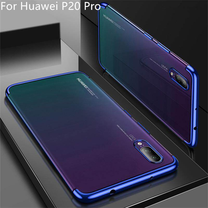Ultra Thin Soft TPU Plating Transparent Case For Huawei P20 Pro Clear Back Cover