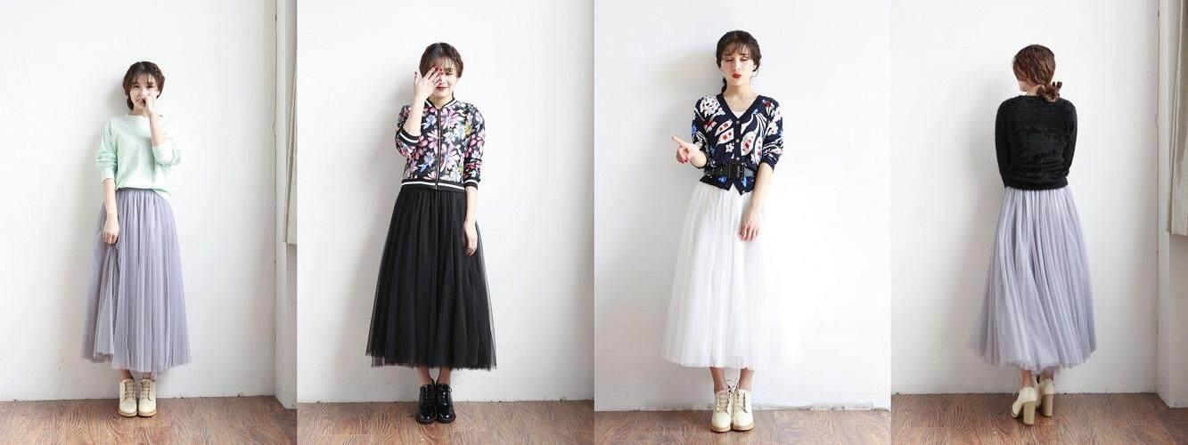 (Pre Order ETA 14/2) JYS Fashion Women Korean Style Skirt Collection 123-2796 (Grey)