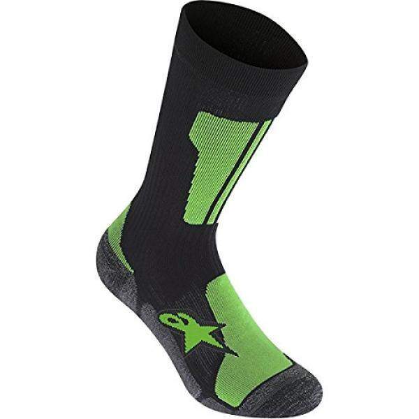 Alpinestars Mens Crew Socks, Medium, Black Bright Green - intl