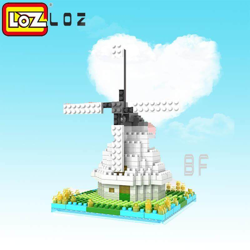 Price Loz Diamond Blocks Dutch Windmill Building Blocks City Architecture Diy Building Assembly Toy Educational Toys For Children 9363 Intl Loz