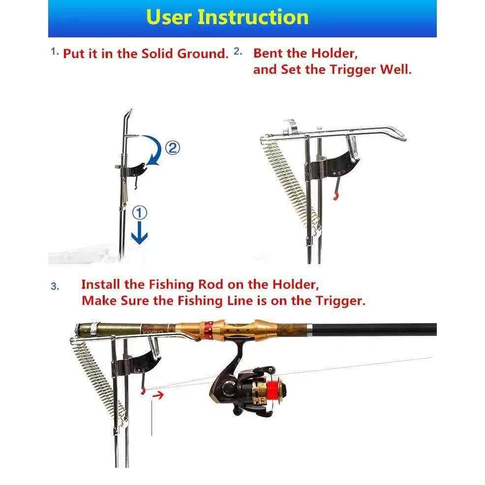 High Strength Automatic Fishing Rods Tackle Rod Holder Spring Thickened Steel
