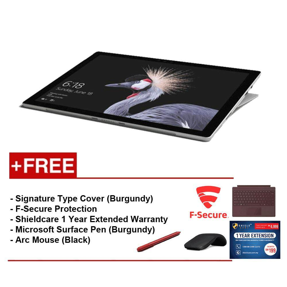NEW Microsoft Surface Pro-Core i5 8G/256GB Free Surface Pro Type Cover (Burgundy) + Shieldcare 1Year Extended Warranty + F-Secure End Point Protection + Arc Mouse (Black) + Microsoft Surface Pen (Burgundy) Malaysia