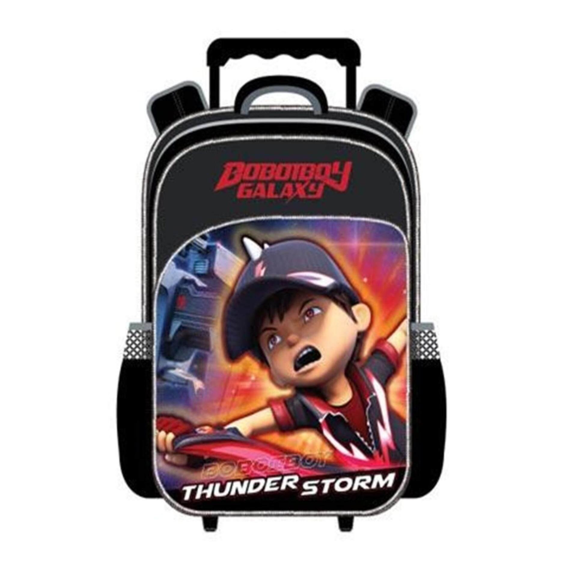 Boboiboy Galaxy Pre School Kindergarten Nursery Kids Children School Trolley Bag - Boboiboy Thunderstorm