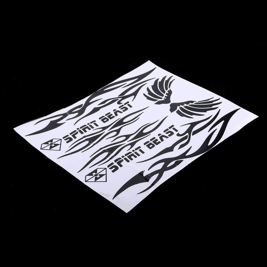Keajaiban Bersinar Unversal Tahan Air Motor Seluruh Badan Stripe Stiker Decal Hitam 1-Internasional By Miracle Shining.