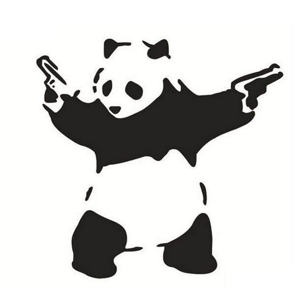 Stiker Mobil Gambar Panda Mobil Stiker Vinil Jendela Bumper Truk Dekorasi Fanestiy