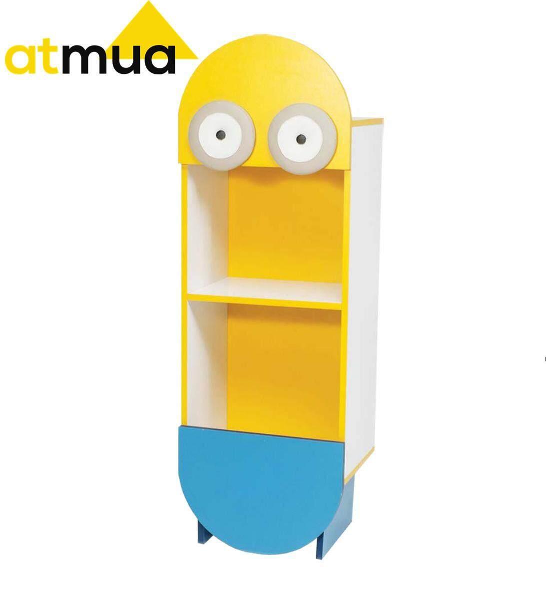 [Promotion] Atmua Minion Cartoon Bookcase Storage Rack Colour Box Children Rack (2 Rack)