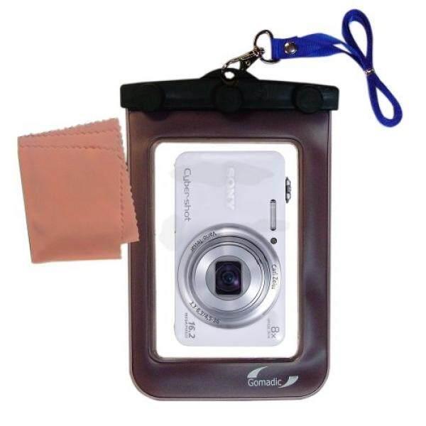 Gomadic Kamera Tahan Air Tas Pelindung Cocok untuk Sony Cybershot WX80-Unik Mengambang Desain Membuat Kamera Bersih dan Kering-Internasional