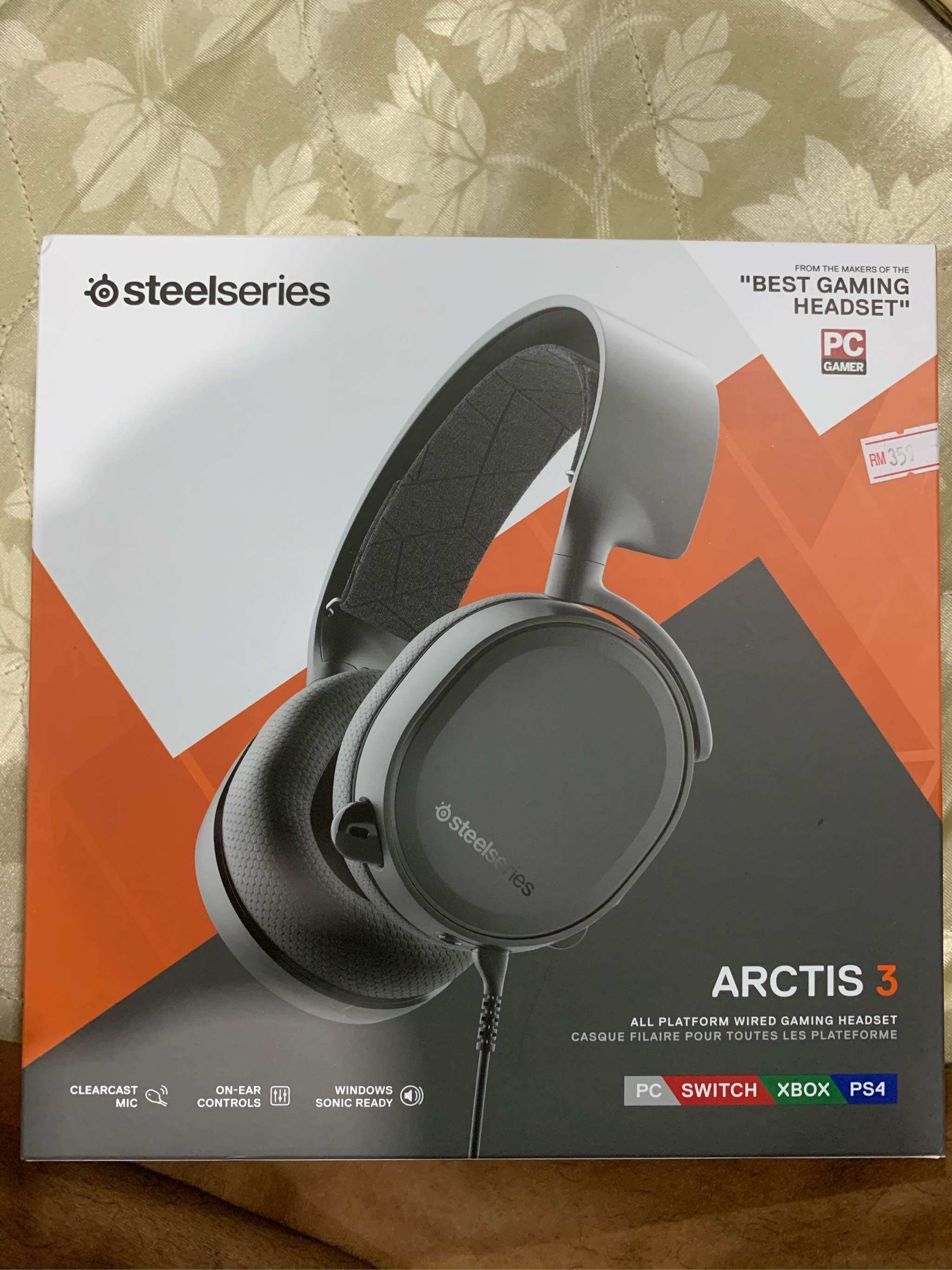 8cbb26a5e91 SteelSeries Arctis 3 7.1 Surround Gaming Headset (Black)   Lazada