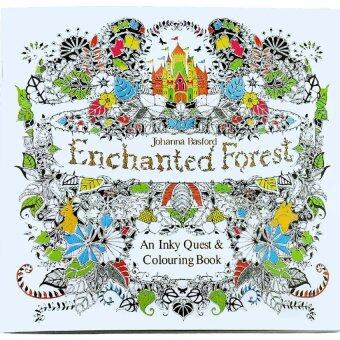 1pcs The Enchanted Forest 2016 New Secret Garden An Inky Treasure Hunt And Coloring Book For Children Adult Relieve Stress Kill Time Graffiti Painting