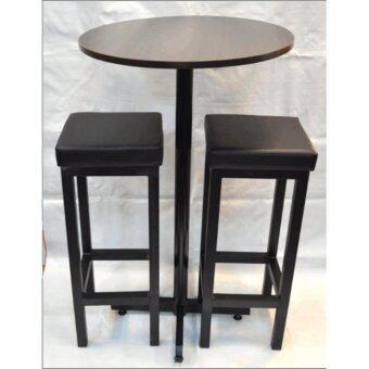 bar table set of 1 bar table u0026amp 2 stool bar table size 60dia x 100h cm