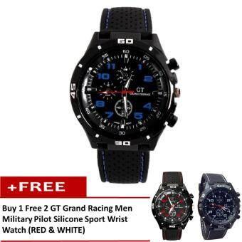 1 Free 2 Gt Grand Racing Men Military Pilot Silicone Sport Wrist Watch