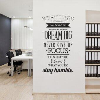 Wall Decals Quotes Work Hard Vinyl Wall Sticker Letras Decorativas Office  Home Decoration Wall Art Wall Stickers(size:100cm*56cm)    Black Part 68