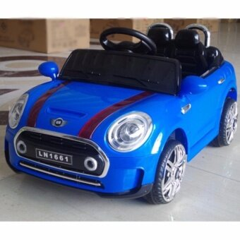 kids ride on mini cooper style electric car