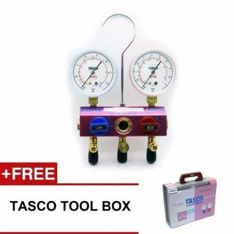 air conditioning gauges. tasco ta122gv-2 ball valve type gauge manifold kit r410a/r32 air conditioning gauges