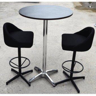 bar table set of 1 bar table u0026amp 2 stools bar table size 60dia x 100h cm