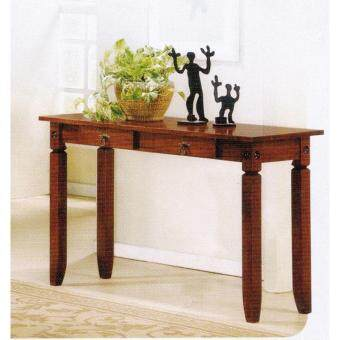 4feet full solid wood console table black color l1200mm x w400mm x h740mm preorder 1 week