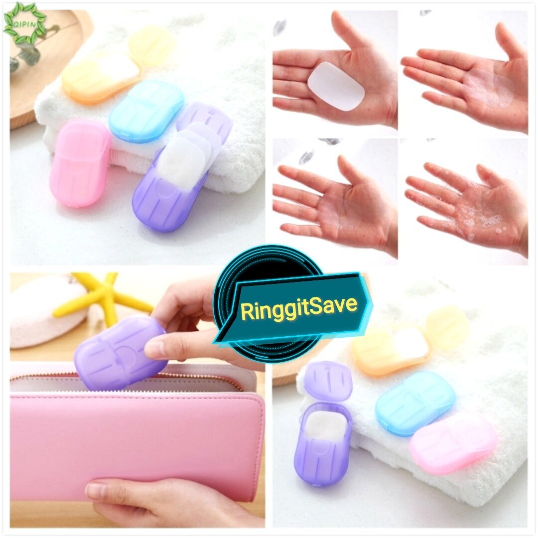 Travel Disposable Soap Paper Blue Color Portable Hand Washing Mini Soap Paper Portable Hand Washing Tablets With Free Gift