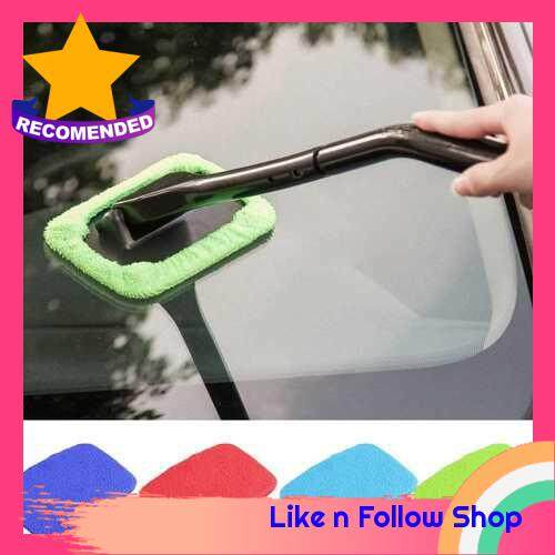 Windshield Clean Microfiber Cloth for Long Handle Car Cleaning Brush (Yellow) (Handle Brush is Not Included) (Yellow)