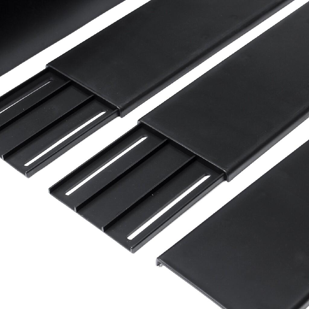 Engine Parts - 2.2M Universal Car Lower Side Skirts Body Kit Rocker Panel Extension Matte Black hotestcar - Car Replacement