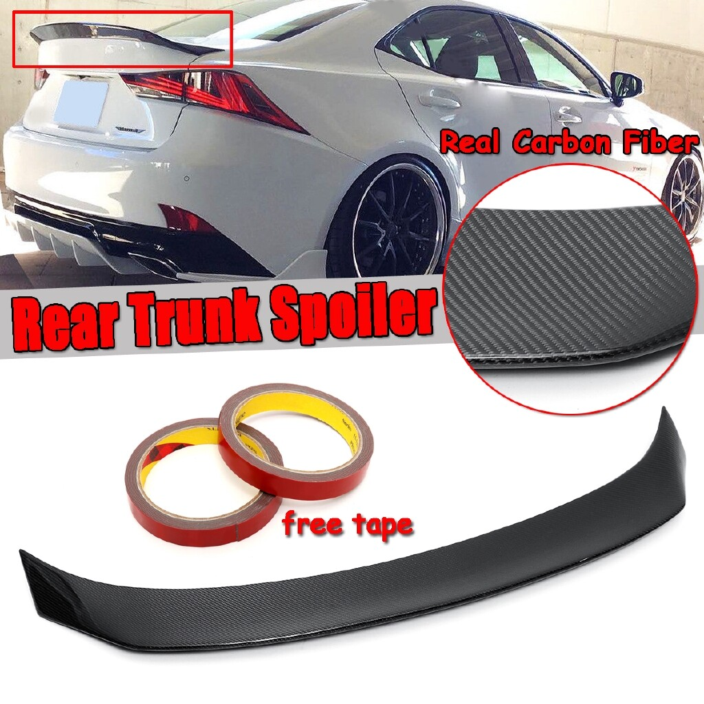Automotive Tools & Equipment - Real Carbon Fiber Trunk Spoiler Wing Lip FOR 2014- LEXUS IS200t IS250 IS350 - Car Replacement Parts