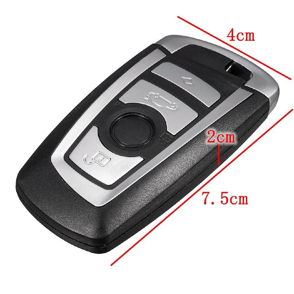 Car Accessories - 4 Buttons Remote Key Fob + PCF7953P Chip 433MHz For BMW 5 7 F series - Automotive