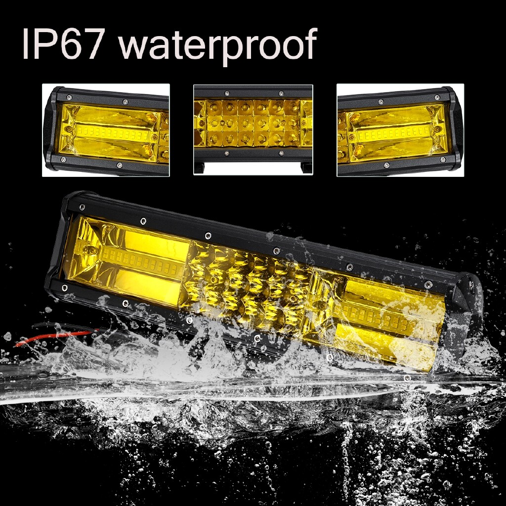 Car Lights - LED Work Light Bar 198W fit 12V/24V vehicles 66 PIECE(s) Work Light Bar Spot Driving Lamp Amber Offroad - Replacement Parts