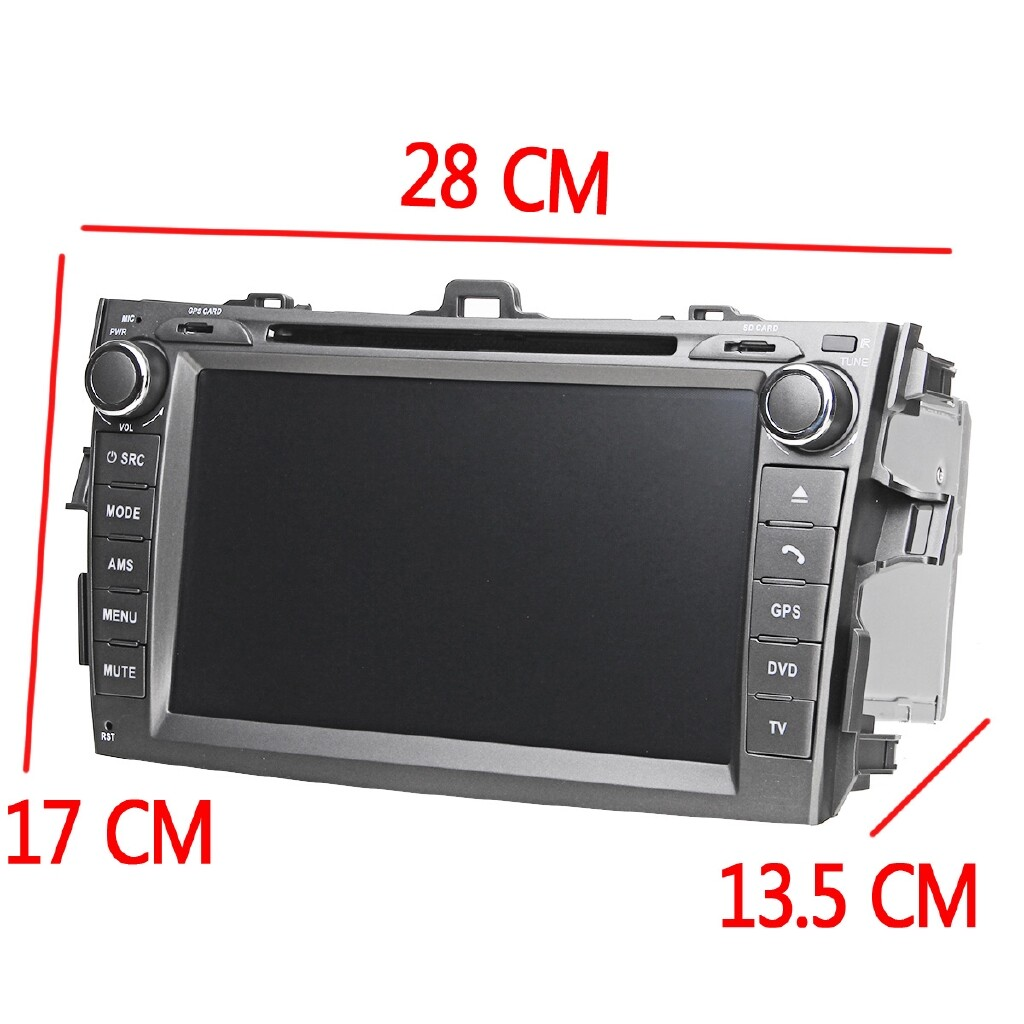 Vehicle GPS - 8'' 2 DIN Car Stereo BLUETOOTH DVD MP5 Radio Player For Toyota Corolla 09-10 - Car Electronics