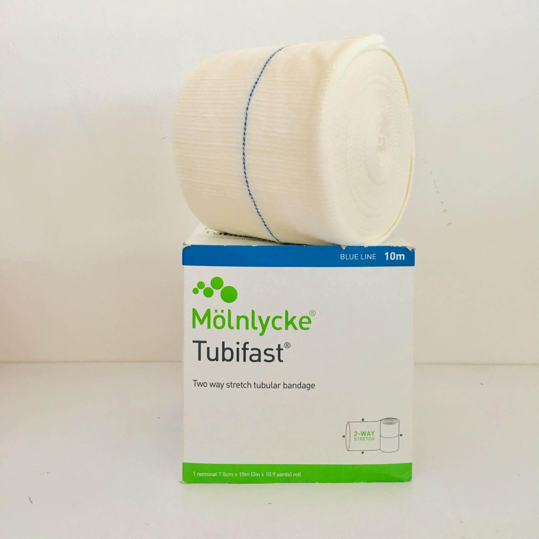 Molnlycke Tubifast Two way Stretch Tubular Bandage Roll (BLUE LINE 10M)