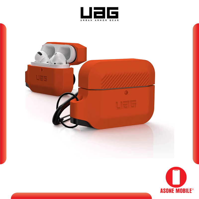 Original UAG Silicone AirPods Pro Full-Body Protective Water Resistant Soft Silicone Case with Detachable Carabiner