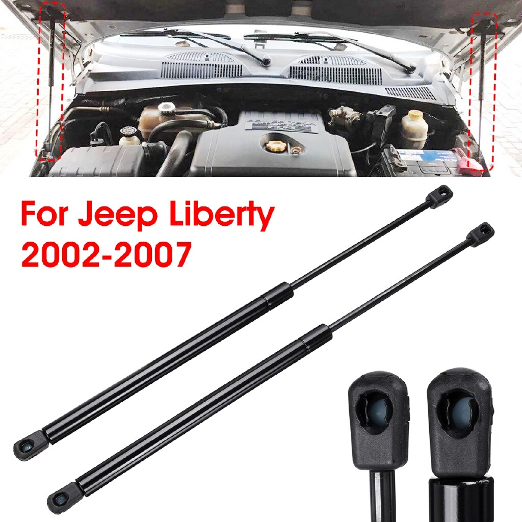 Automotive Tools & Equipment - 2x Front Hood Lift Support Shocks Struts Arm Rod For Jeep Liberty 2002-2007 - Car Replacement Parts