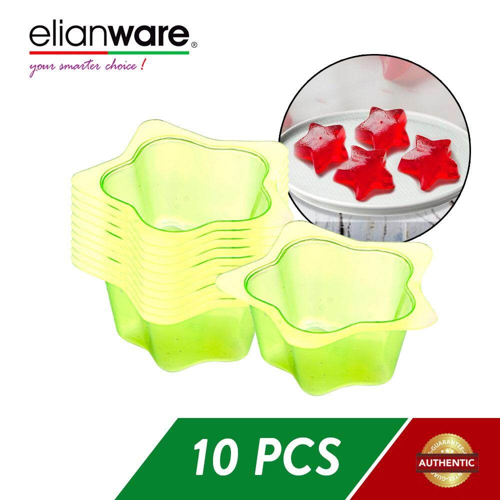 Elianware 10 Pcs Jelly Cup Jelly Mould Multicolor BPA FREE